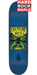 Creature Ambush Hard Rock Maple Skateboard Deck - Blue - 8.0in x 31.6in