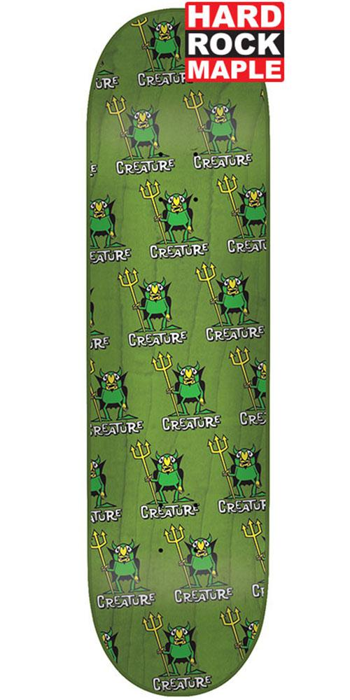 Creature Beezlebub MD Hard Rock Maple Skateboard Deck - Green - 8.25in x 32.04in