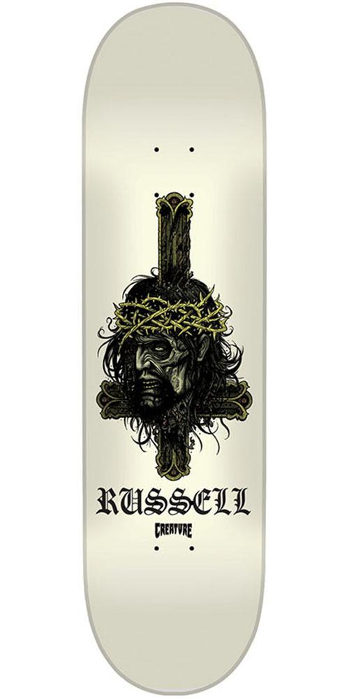 Creature Russell Holy Moley Skateboard Deck - White - 9.0in x 33.0in