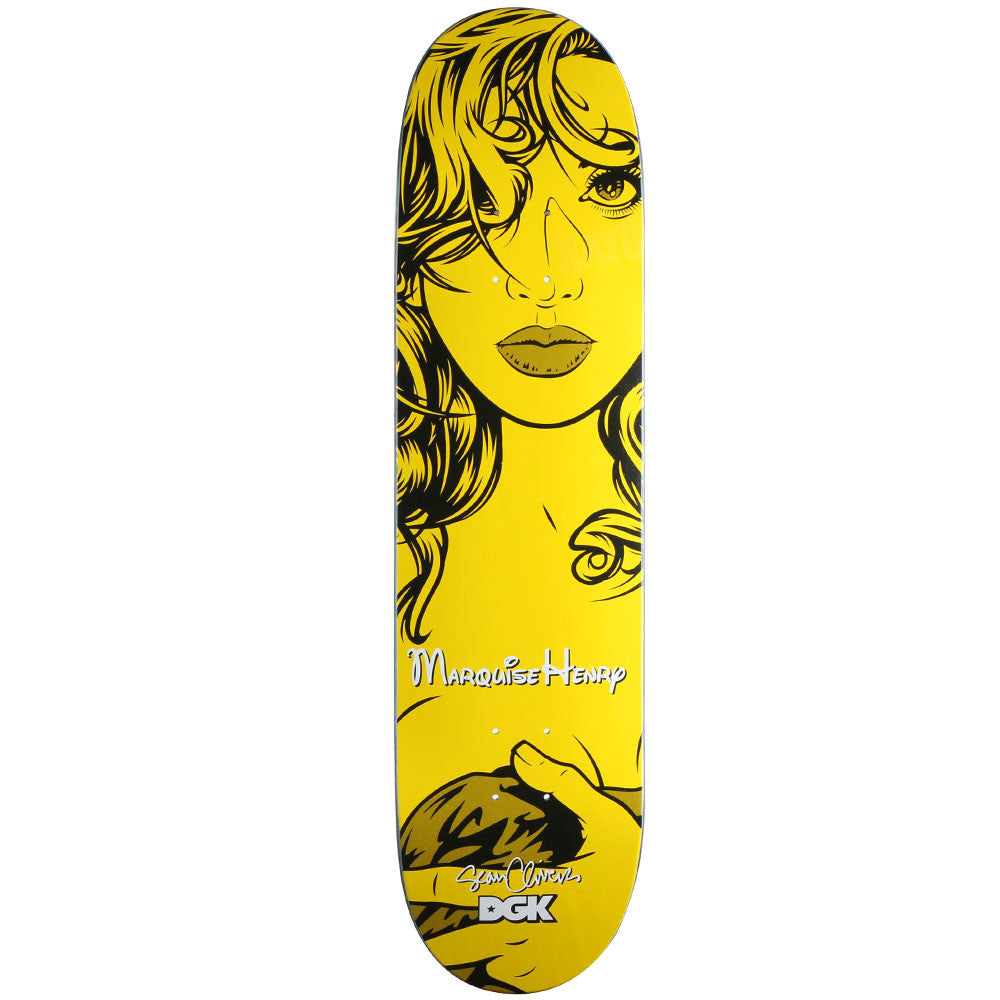 DGK Henry Cliver Girls Skateboard Deck - Yellow - 8.06in