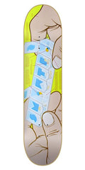 Skate Mental Staba Pillbox Skateboard Deck 8.12 - Yellow/Cream