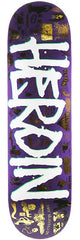 Heroin Legacy Skateboard Deck 8.625 - White/Purple/Gold