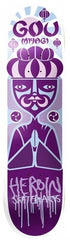 Heroin GM Scatterbrain Skateboard Deck 8.125 - Purple