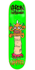 Heroin Chopper Scary Monsters Skateboard Deck - 7.75in - Green
