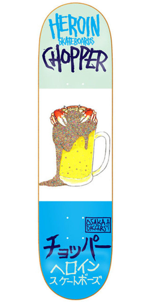 Heroin Chopper Beer Crab Skateboard Deck - 7.75in - Multi