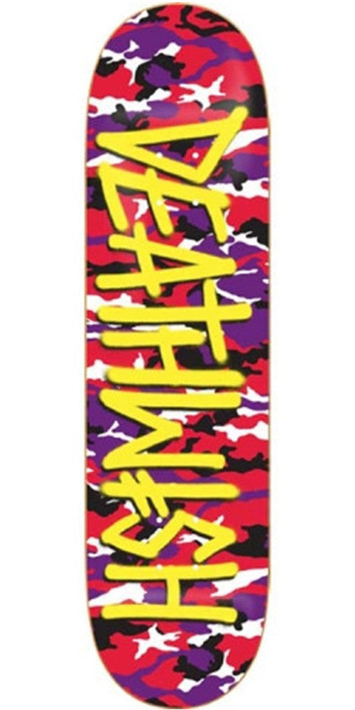 Deathwish Deathspray Camo Skateboard Deck 8.12 - Red/Purple