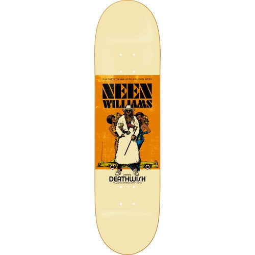 Deathwish Neen Neensploitation Skateboard Deck 8.0 - White/Orange