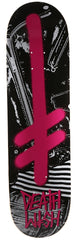 Deathwish Gang Logo Punks Skateboard Deck 8.25 - Pink/Black
