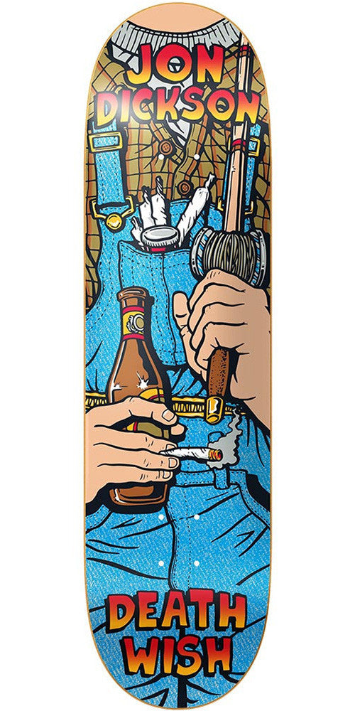 Deathwish Dickson Overalls Skateboard Deck - 8.38in x 31.75in - Multi