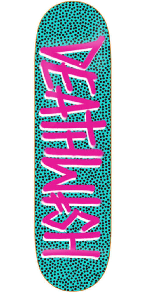 Deathwish Deathspray Petri Skateboard Deck - 7.75in - Teal/Pink