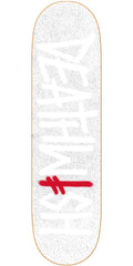 Deathwish Deathspray Asphalt Skateboard Deck - 8.5in - White