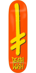 Deathwish Gang Logo Skateboard Deck - 7.875in - Orange/Yellow