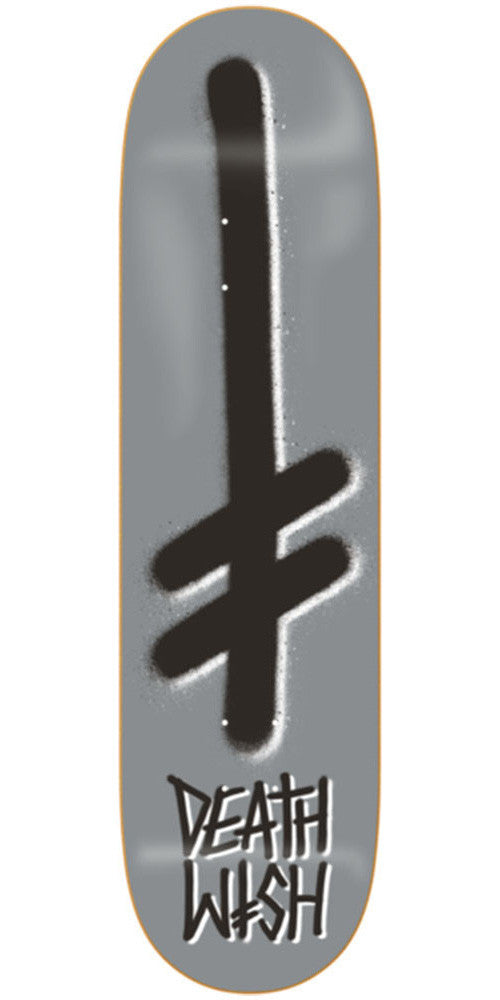 Deathwish Gang Logo Skateboard Deck - 8.475in - Silver/Black
