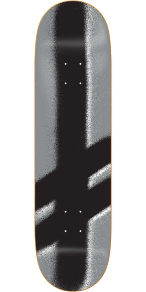 Deathwish Giant Gang Logo Skateboard Deck - 8.25in - Silver/Black