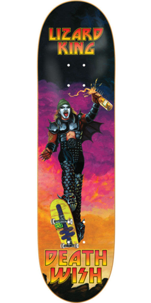Deathwish Lizard King Destroyed Skateboard Deck - 8.38in - Multi