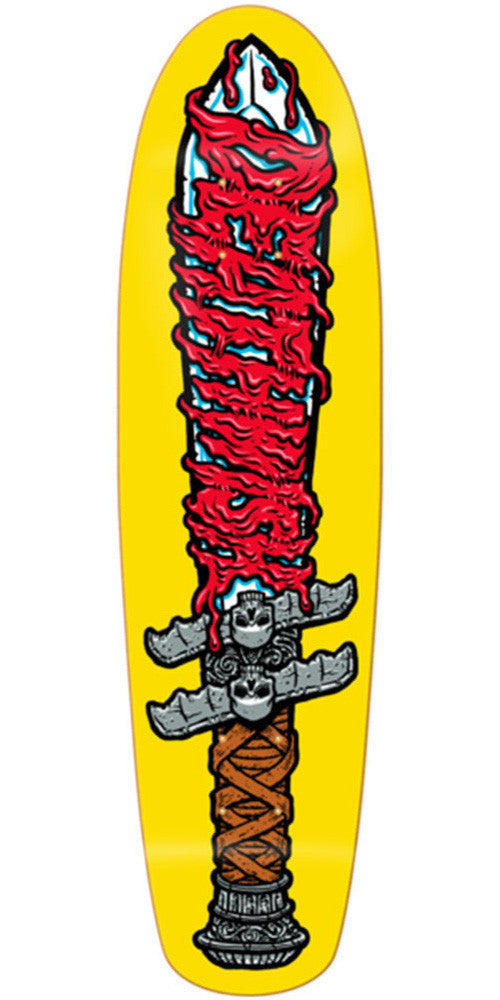 Deathwish Dagger Cruiser Skateboard Deck - 7.65in - Yellow
