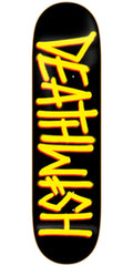 Deathwish Deathspray Skateboard Deck - 8.0in - Black/Yellow