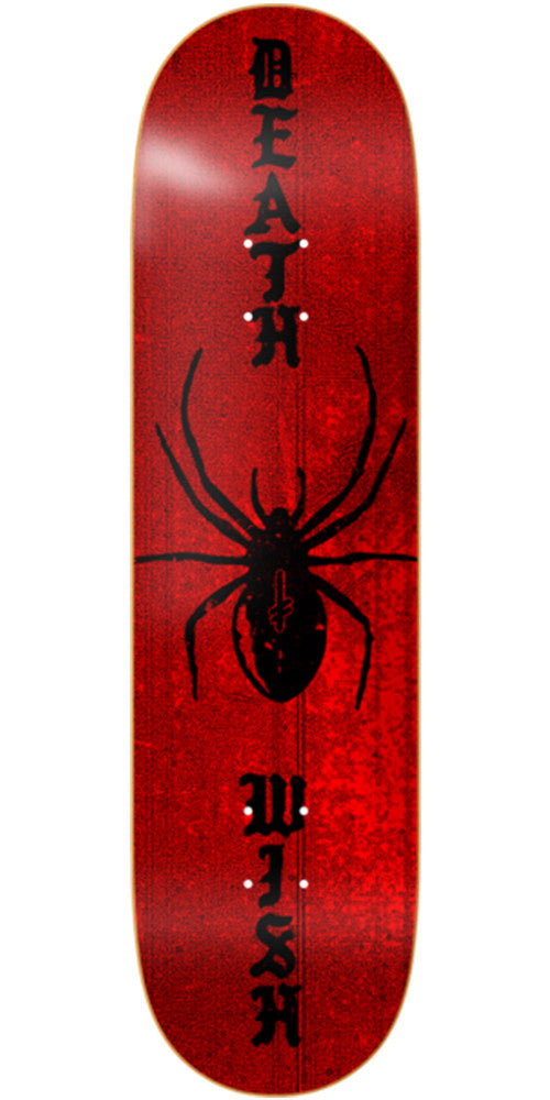 Deathwish Time Served Skateboard Deck - 8.125in - Red