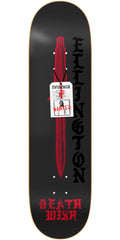 Deathwish Ellington Deadly Intent Skateboard Deck - 8.3875in - Black
