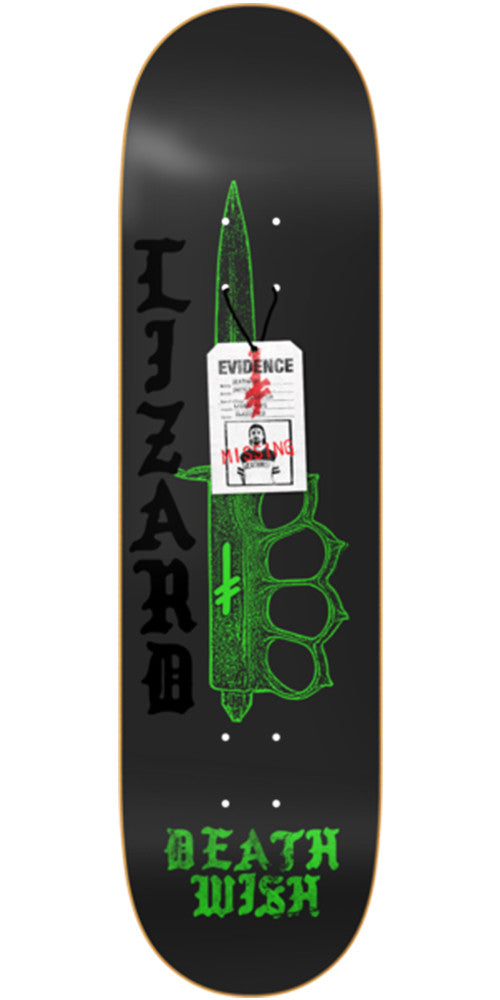Deathwish Lizard King Deadly Intent Skateboard Deck - 8.0in - Black