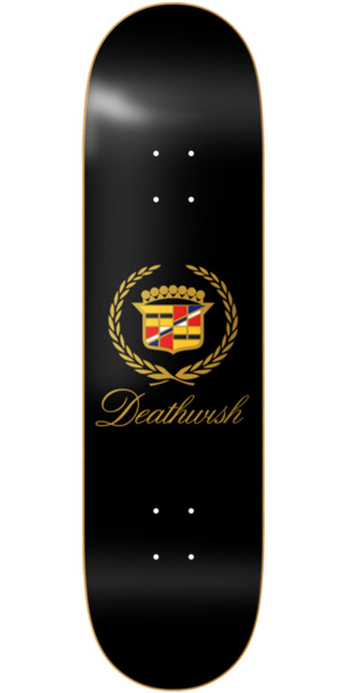 Deathwish Death Caddy Skateboard Deck - 8.3875in - Black