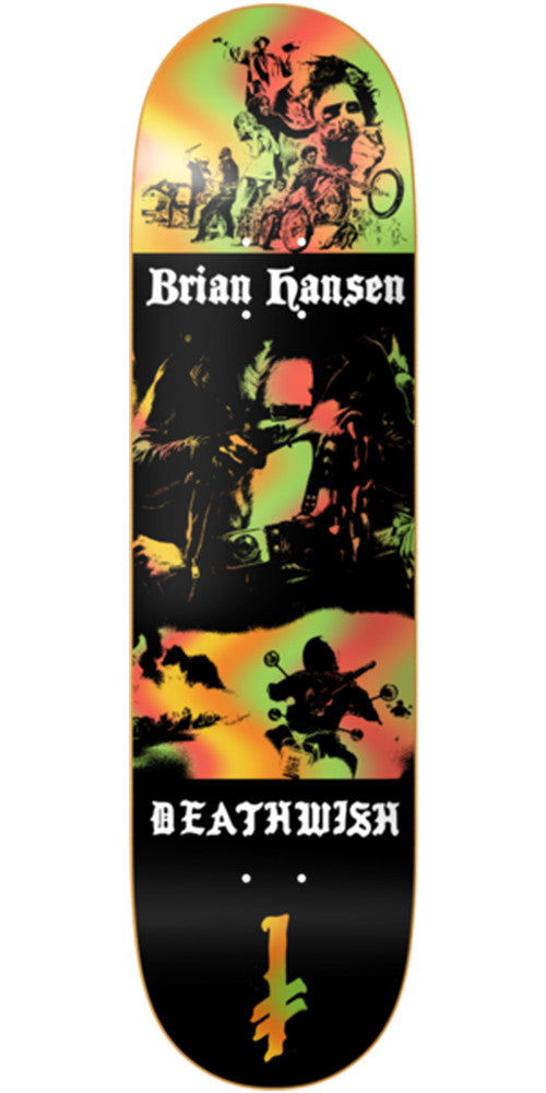 Deathwish Slash Colors of Death Skateboard Deck - 8.25in - Multi