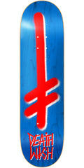 Deathwish Gang Logo Skateboard Deck - 7.875in - Stain Blue/Red