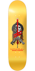 Deathwish Ellington Sword & Mule Skateboard Deck - 8.0in - Yellow