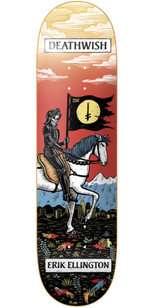Deathwish Ellington Tarot Card Skateboard Deck - 7.875in - Multi
