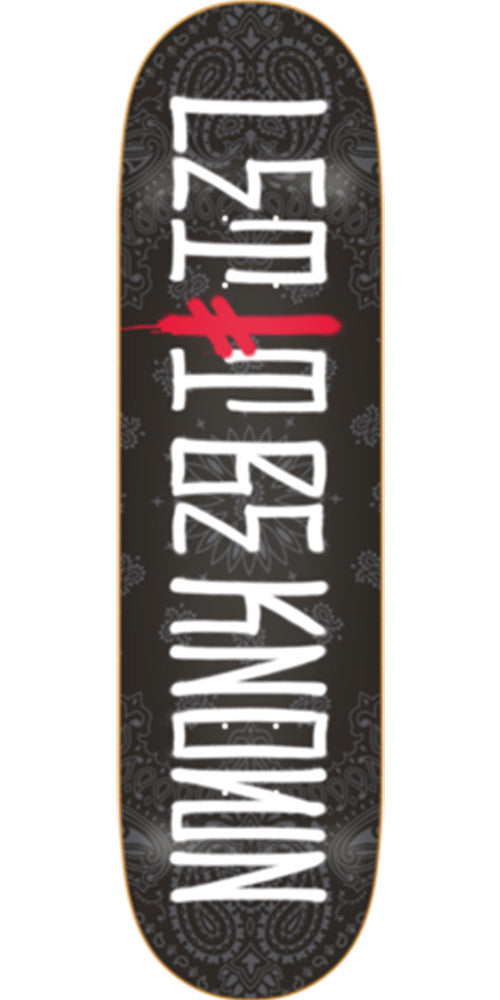 Deathwish Let It Be Known Skateboard Deck - 8.125in - Black