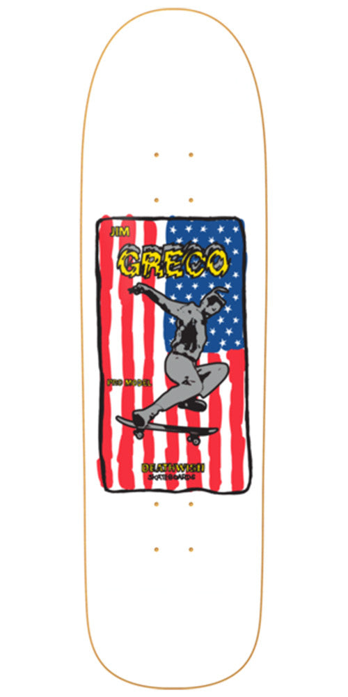 Deathwish Jim Greco 360 Skateboard Deck - 8.625in - White