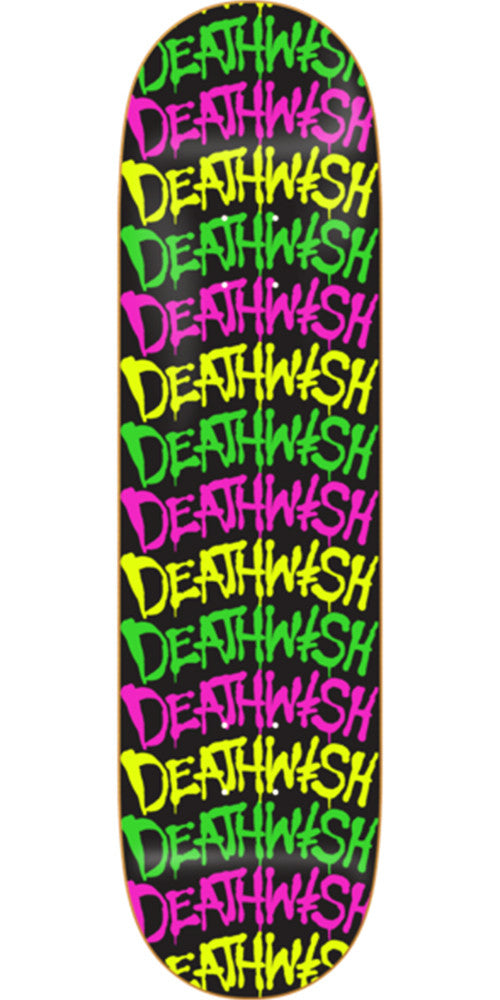 Deathwish Street Spray Stacked Skateboard Deck - 7.875in - Multi