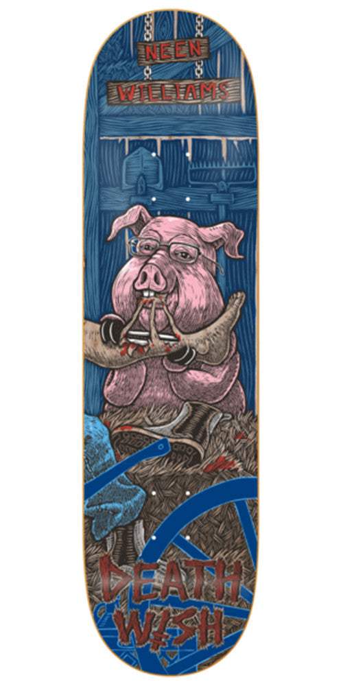 Deathwish Williams Delicacy Skateboard Deck - 8.125in - Blue