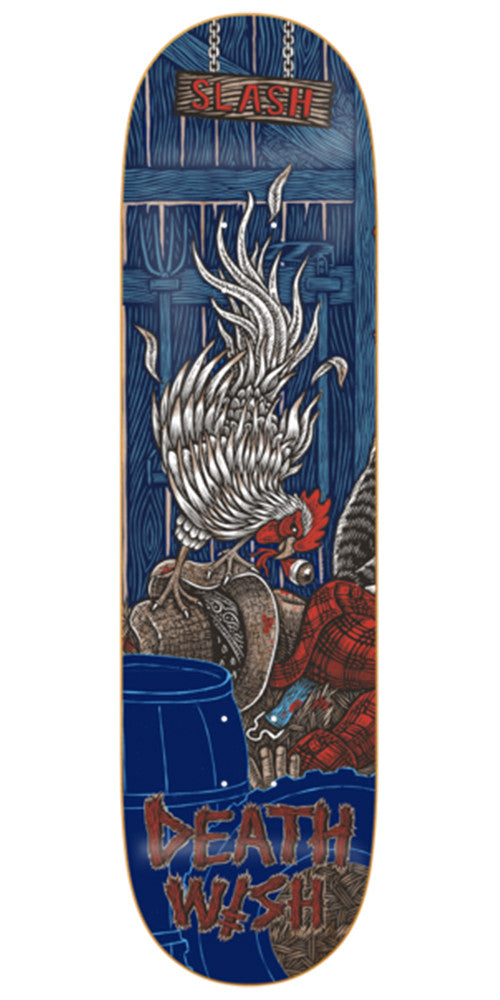 Deathwish Slash Delicacy Skateboard Deck - 8.0in - Blue