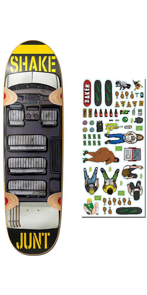 Shake Junt Stickerama Cruiser Skateboard Deck - 8.75in - Multi