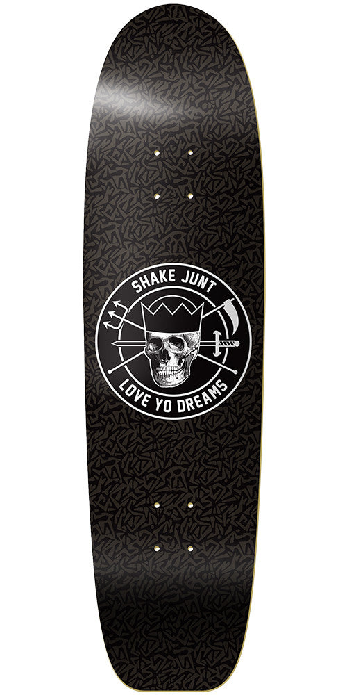 Shake Junt Loveyodreams Cruiser Skateboard Deck - 8.5in - Black
