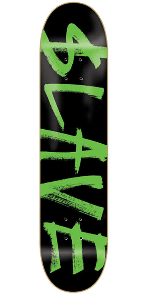 Slave Corporate Skateboard Deck 7.75 - Black/Green