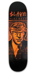 Slave Flathead Skateboard Deck 8.25 - Black/Orange