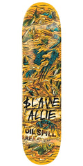 Slave Allie Wasted Skateboard Deck - Orange/Turquoise - 8.125in