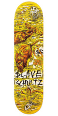 Slave Schultz Wasted Skateboard Deck - Yellow/Brown - 8.375in
