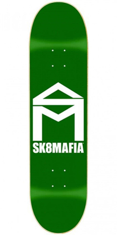 Sk8Mafia SM House Logo Mini Skateboard Deck - Green - 7.25 x 28.0