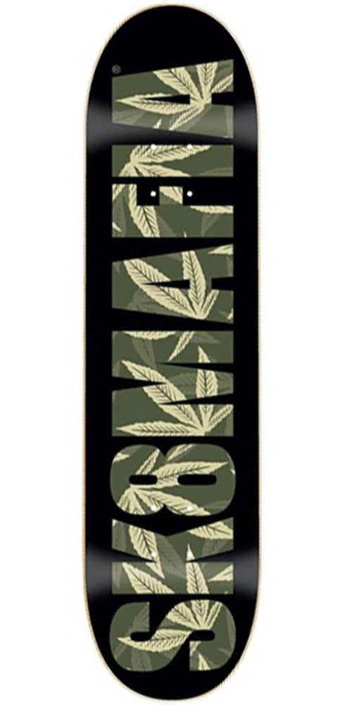 Sk8Mafia SM OG Logo Leaves Skateboard Deck - Black - 8.0 x 32.0