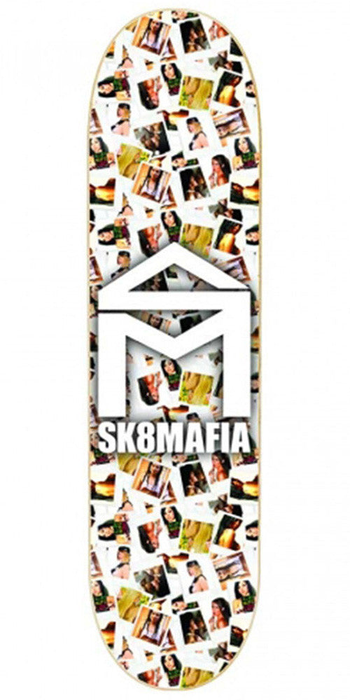 Sk8Mafia SM House Logo Girls Skateboard Deck - White - 8.0 x 32.0