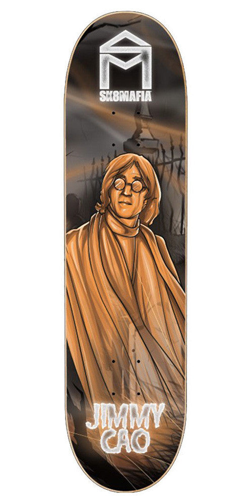 Sk8Mafia Jimmy Cao Legends Skateboard Deck - Black/Orange - 8.0 x 32.0