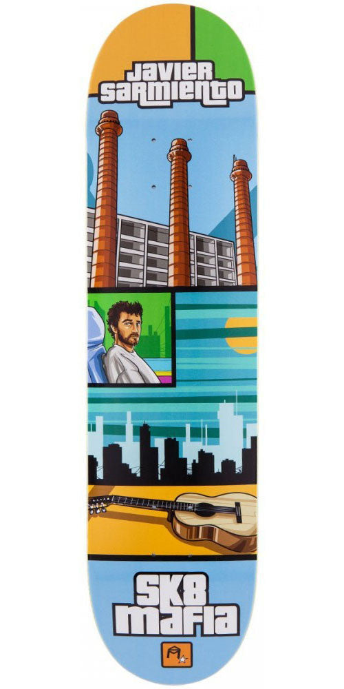Sk8mafia Sarmiento Gamer Skateboard Deck - Multi - 7.8in