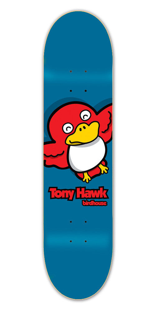 Birdhouse Hawk Bird Skateboard Deck 8.0 - Blue