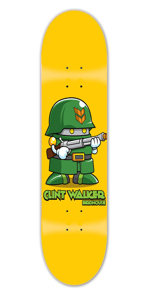Birdhouse Walker Soldier Skateboard Deck 8.0 - Yellow