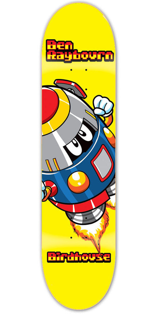 Birdhouse Ben Raybourn Rocketman Skateboard Deck - Yellow - 8.3
