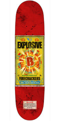 Birdhouse Team Firecracker Explosive Skateboard Deck - Red - 8.2
