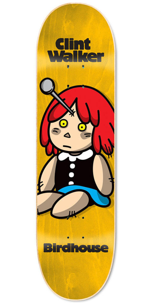 Birdhouse Walker Voodoo Skateboard Deck - Yellow - 8.2
